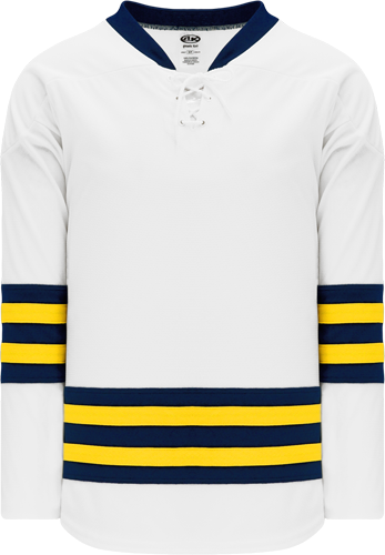 MICHIGAN hockey jerseys WHITE   | Customize with Logo, Player Name & Number