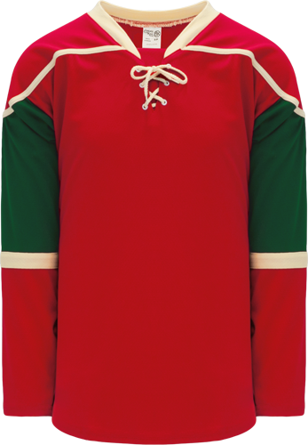 2007 MINNESOTA RED custom hockey jerseys
