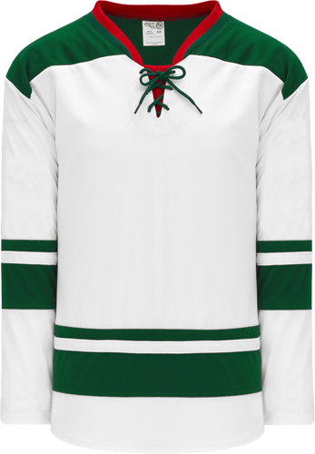 2013 MINNESOTA WHITE custom hockey jerseys