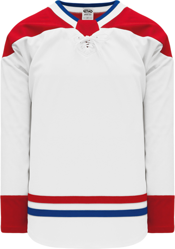 2017 MONTREAL WHITE custom hockey jerseys