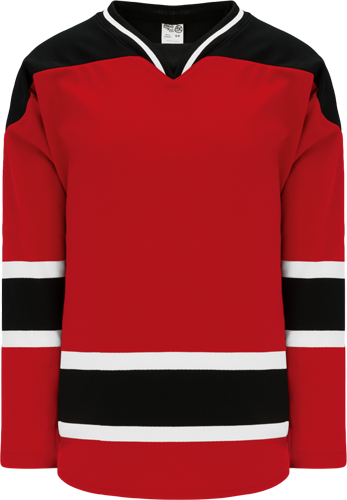 2007 NEW JERSEY RED custom hockey jerseys