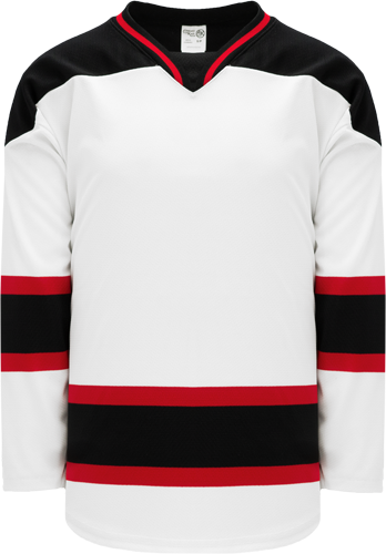 2007 NEW JERSEY WHITE custom hockey jerseys