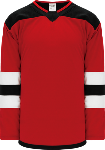 2017 NEW JERSEY RED custom hockey jerseys