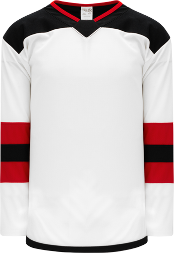 2017 NEW JERSEY WHITE custom hockey jerseys
