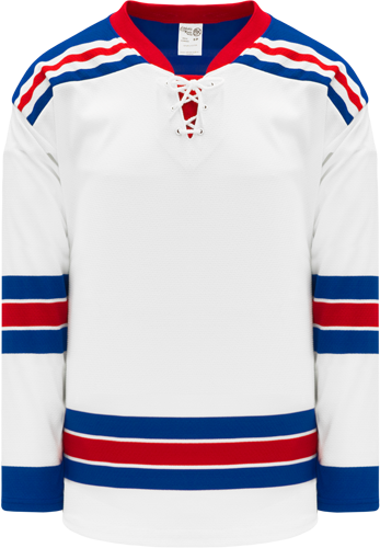 2007 NEW YORK RANGERS WHITE custom hockey jerseys