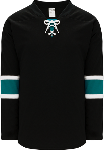 2008 SAN JOSE 3RD BLACK custom hockey jerseys