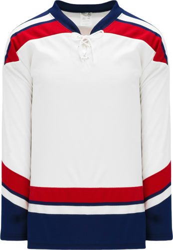 2005 TEAM USA WHITE custom hockey jerseys