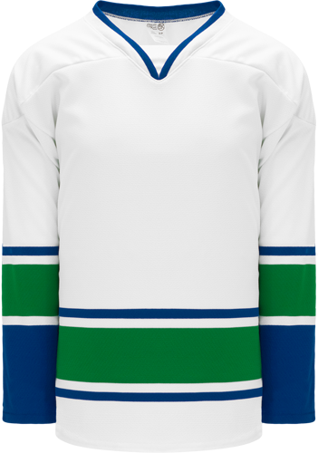 2008 VANCOUVER WHITE custom hockey jerseys