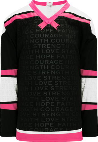 BREAST CANCER AWARENESS BLACK custom hockey jerseys