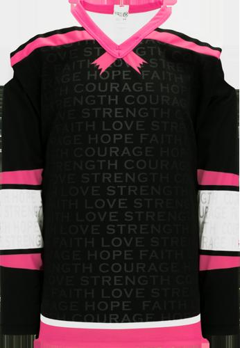 Custom Hockey Jerseys |BREAST CANCER AWARENESS BLACK  hockey jerseys