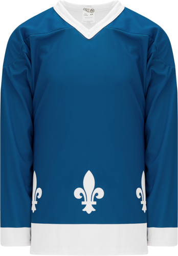 2011 QUEBEC BLUE custom hockey jerseys