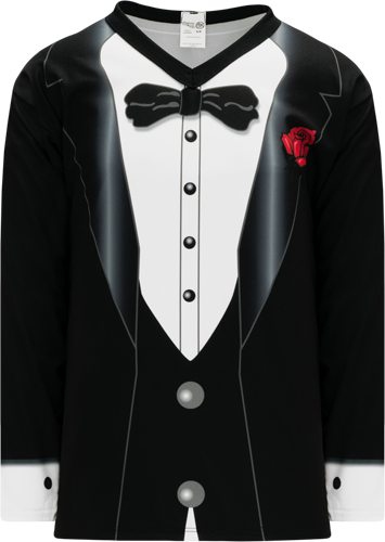 Customized TUXEDO BLACK  hockey jerseys | No Minimium Order