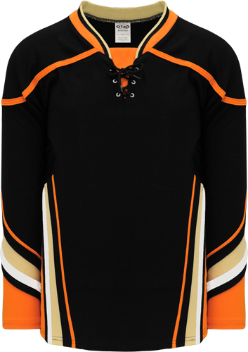 2014 ANAHEIM BLACK custom hockey jerseys