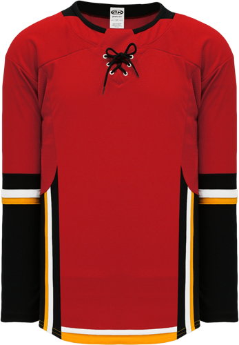 2017 CALGARY RED custom hockey jerseys