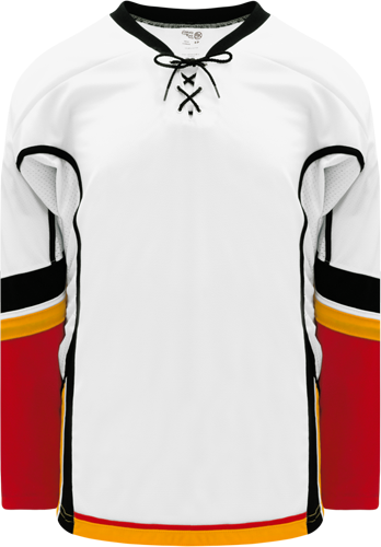2013 CALGARY WHITE custom hockey jerseys