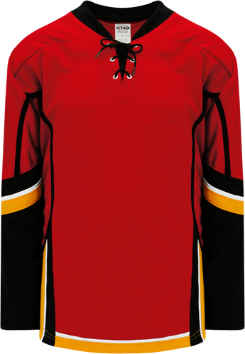 2013 CALGARY RED custom hockey jerseys
