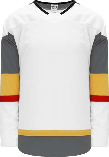 Customized  Las  Vegas Blank Hockey Jerseys - White | Design Your Own | No Min