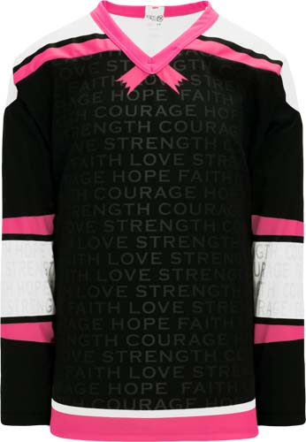 Breast Cancer Awareness Hockey Jerseys   | Design Your Own | No Min