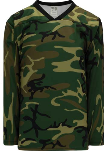 Forest Camouflage hockey jersey CAM | Design Your Own | No Min