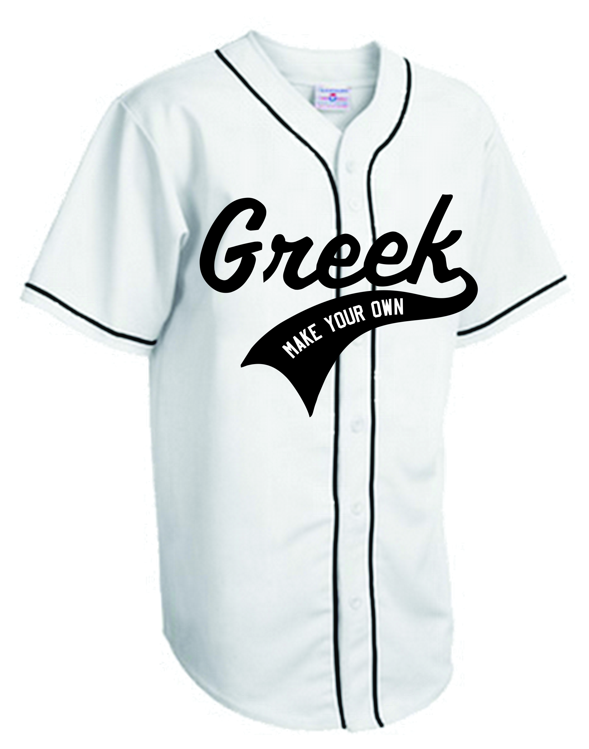 Custom Greek Baseball jersey