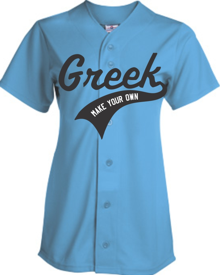 Sorority Baseball Jerseys | Customize with Logo, Player Name & Number