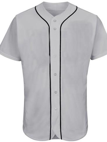 Custom Detroit Blank MLB  Blank Baseball Jersey - Gray