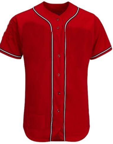 Custom Cincinnati Reds Team MLB  Blank Baseball Jersey - Scarlet