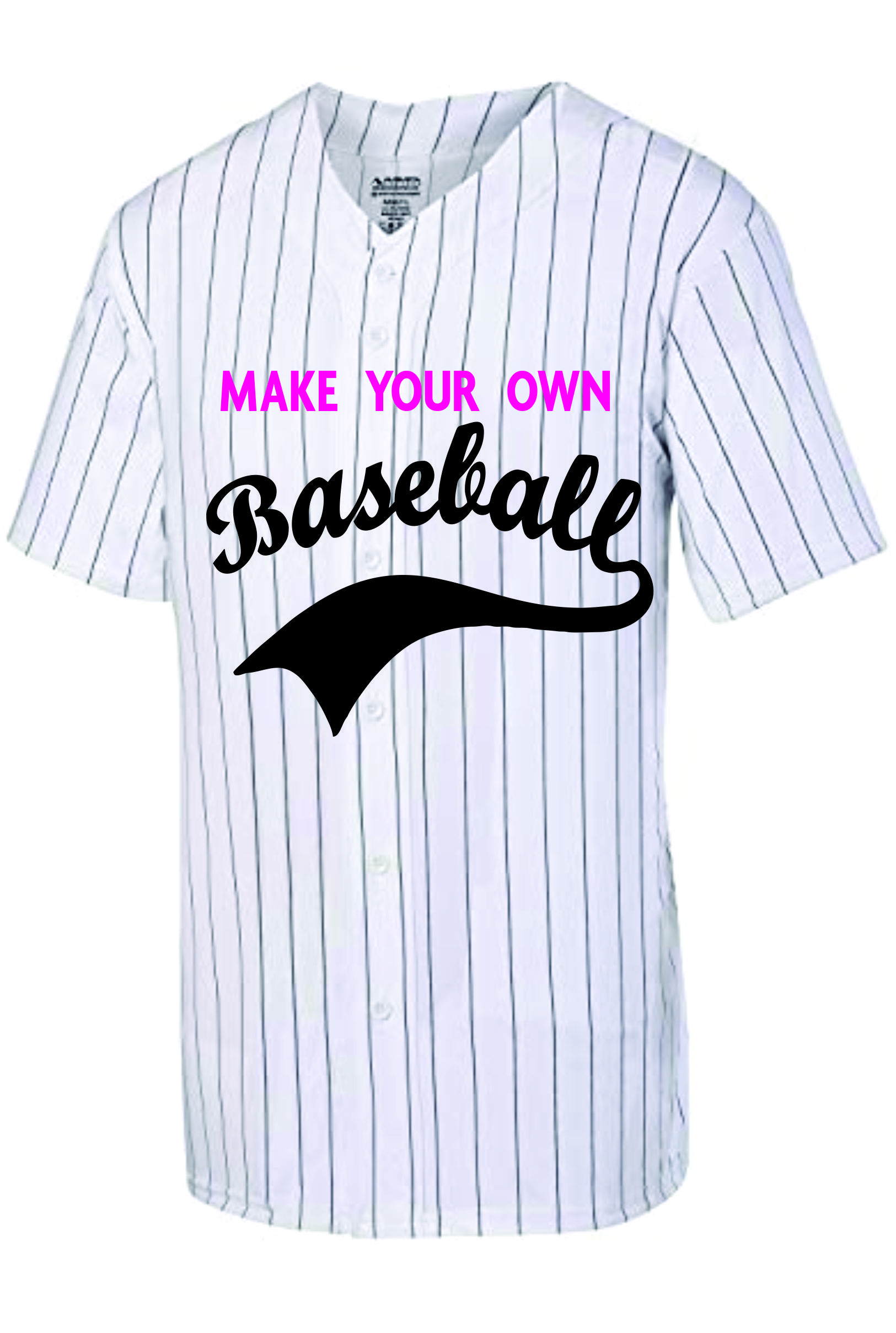 Custom  Pinstripe Baseball jersey |  Design Yours - Fast Shipping