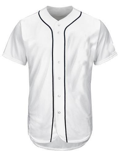 Custom Detroit Tigers Team MLB  Blank Baseball Jersey