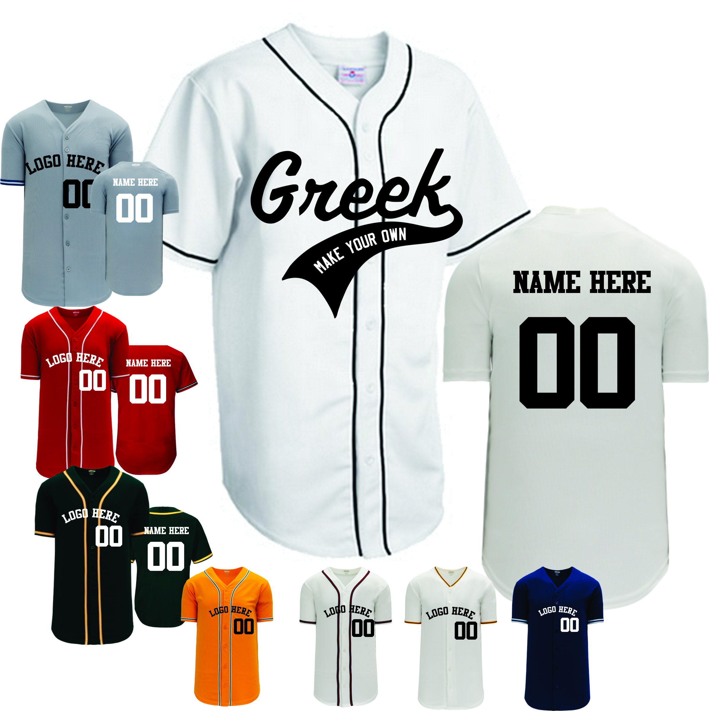 Custom  Team Baseball jersey |  Design Yours - Fast Shipping