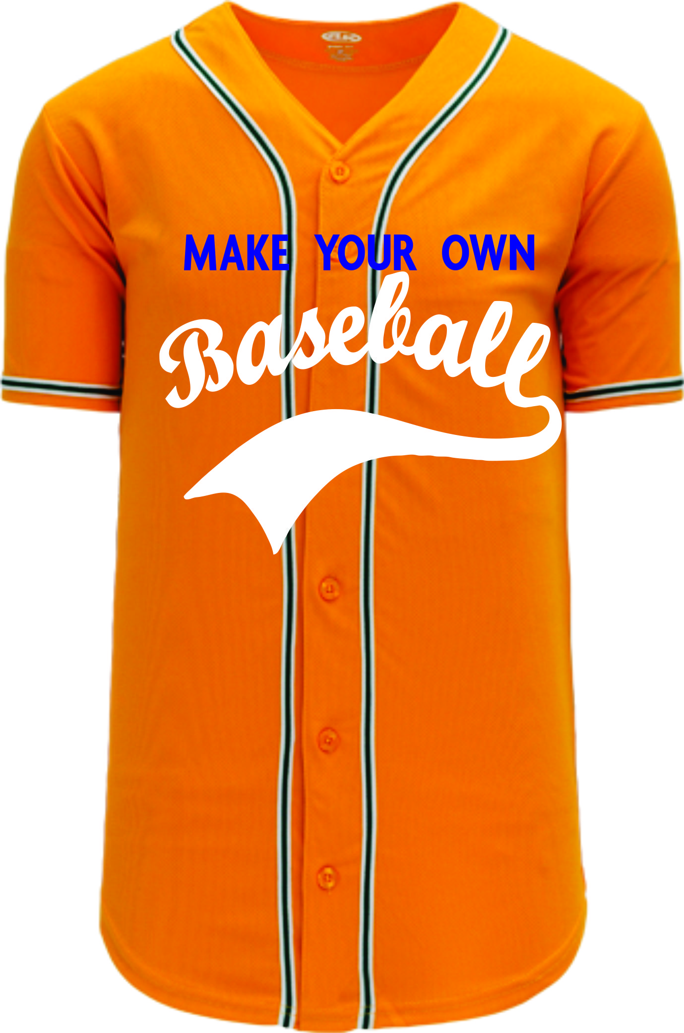 Custom Baseball Jerseys |  Oakland MLB  Blank baseball jersey - gold | Design Your Own | No Min