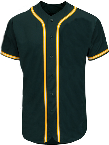 Custom Oakland MLB Green/Gold Blank baseball jersey
