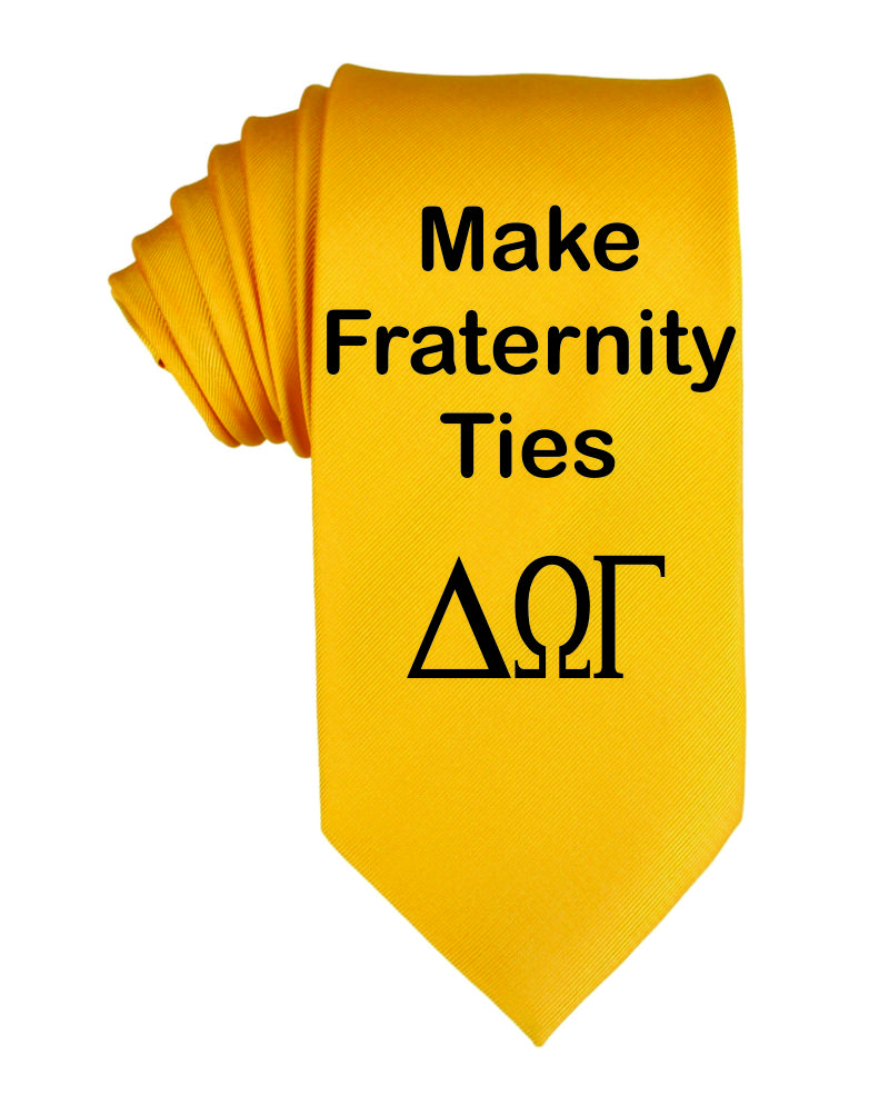 Customized Fraternity neckties - Made Greek ties - | Design Your Own | No Min