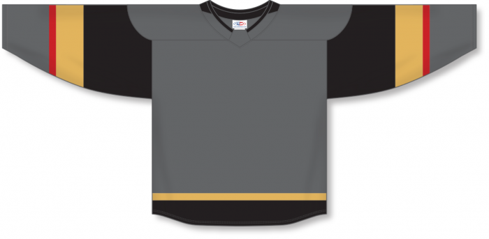 Custom Las Vegas Blank Hockey Jerseys - Charcoal