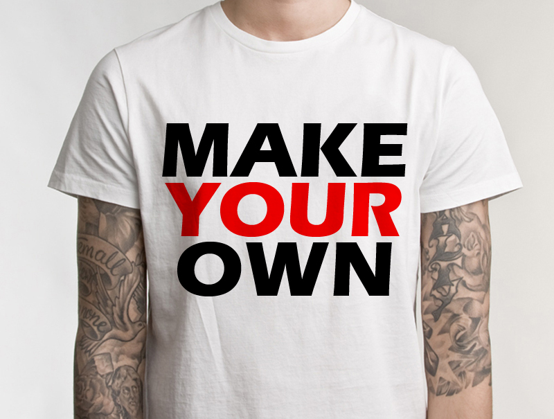 Customized Ultra Cotton T shirt | Design Your Own | No Min