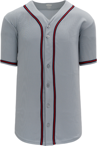 Customized  | Atlanta Braves MLB  Blank Baseball Jersey - Road | Design Your Own | No Min