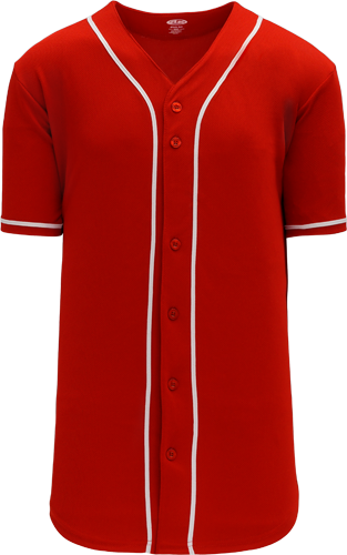 Customized  | Cincinnati Reds Team MLB  Blank Baseball Jersey - Scarlet | Design Your Own | No Min