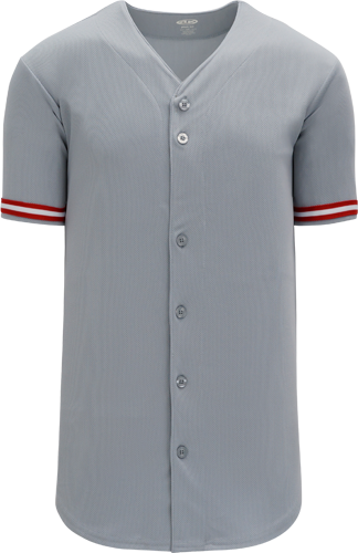 Customized  | Cincinnati MLB  Blank Baseball Jersey - Gray | Design Your Own | No Min