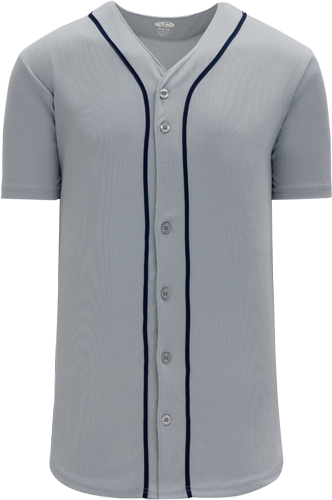 Custom Detroit Blank MLB  Blank Baseball Jersey - Gray | Design Your Own | No Min