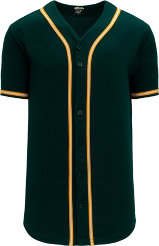 Customized  | Oakland MLB Green/Gold Blank baseball jersey | No Minimium Order