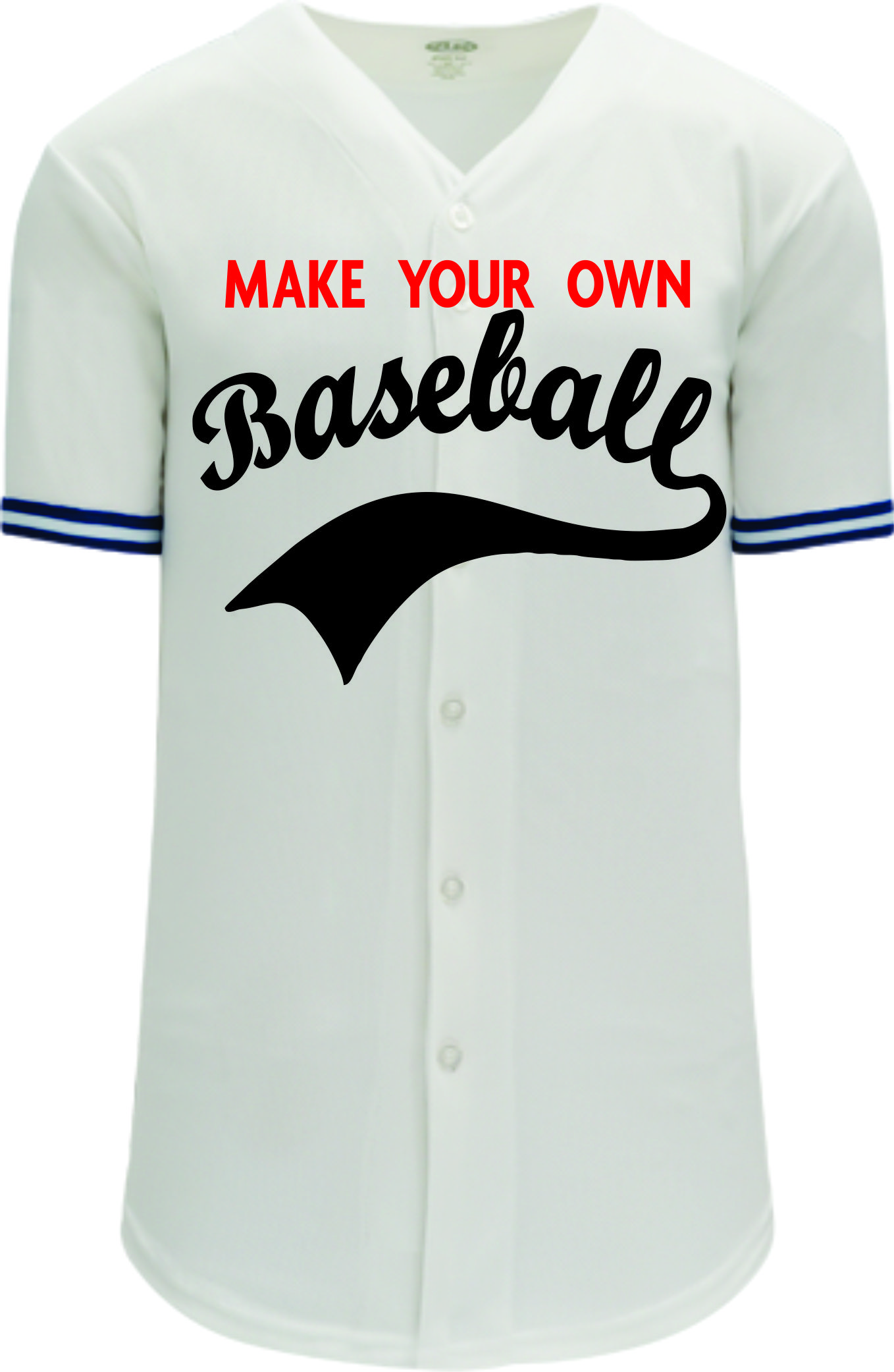 Custom Toronto Jays Blank Baseball Jersey - | Design Your Own | No Min