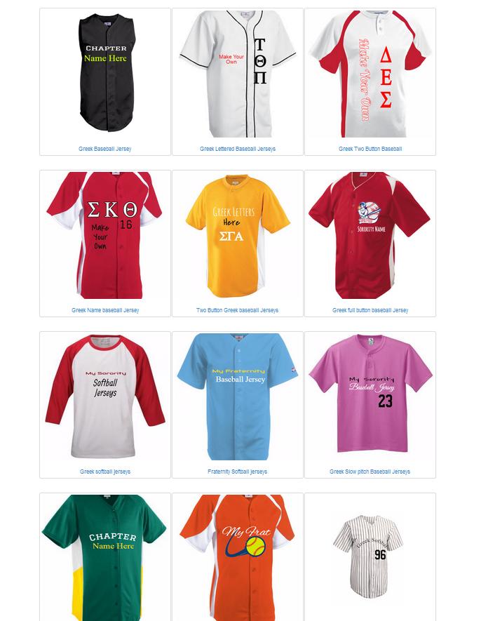 US baseball jerseys