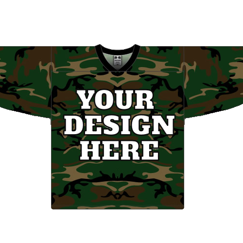 Custom Forest Camouflage hockey jersey CAM  e42a0f02c5b