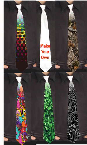 Custom  Make Your own neck ties |  Design Yours - Fast Shipping