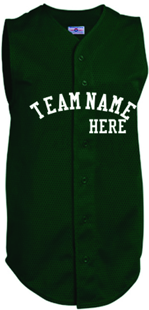 Custom sleeveless full button baseball jersey