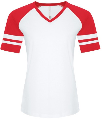 Ladies Football / Baseball Tee