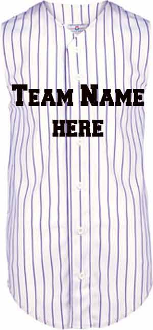 Custom  Sleeveless pinstripe Baseball jersey |  Design Yours - Fast Shipping