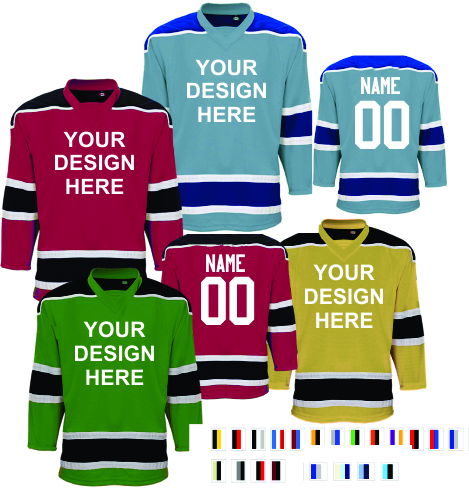 Custom  League Series hockey jerseys  |  Design Yours - Fast Shipping