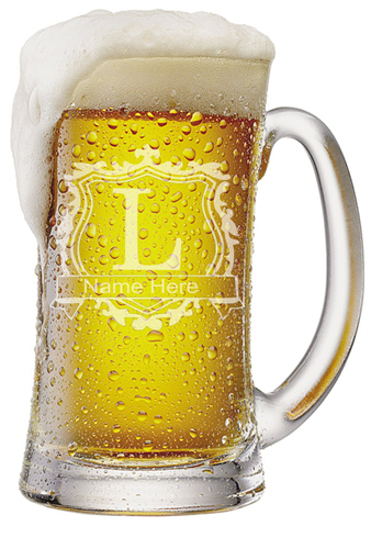 Custom  Initial Beer Mugs |  Design Yours - Fast Shipping