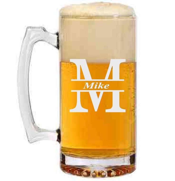 Custom  Personalize Initials Beer Mug |  Design Yours - Fast Shipping